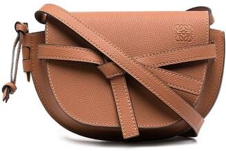 Loewe Knot-Detail Debossed-Logo Crossbody Bag