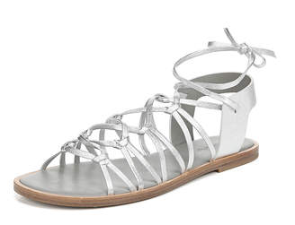 Vince Palmera Flat Metallic Leather Gladiator Sandals