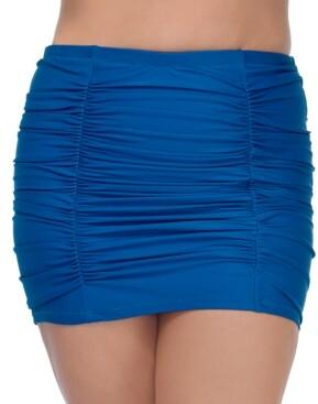 Thumbnail for your product : Raisins Curve Trendy Plus Size Caribbean Solids Costa Swim Skirt Women's Swimsuit