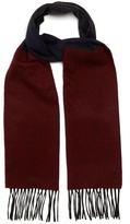 Lanvin Striped fringed cashmere scarf