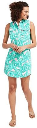 Vineyard Vines Banana Leaf Margo Shirtdress (Hibiscus) Women's Dress