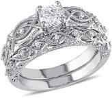 Ice Julie Leah 3/4 CT TW Diamond 10K Polished White Gold Bridal Set