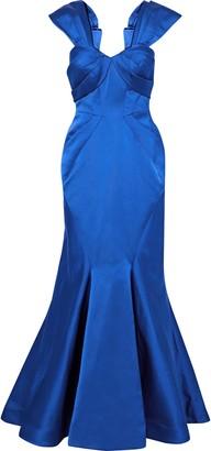 Zac Posen Pleated Duchesse-satin Gown