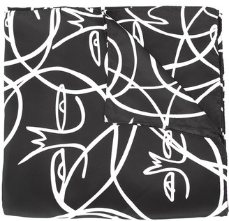 Haculla Abstract Face Print Scarf