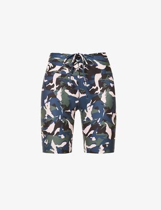 Lorna Jane Off Duty camo-print stretch-jersey shorts