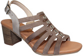 Eric Michael Taupe Leather Misty Sandal