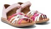 Pom D'Api Pom Dapi Pink Poppy Luxe Velcro Sandals