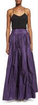 Michael Kors High-Waist Full Skirt, Blackberry