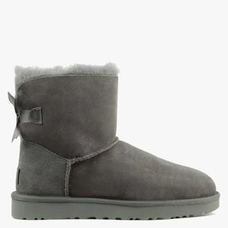 UGG Mini Bailey Bow II Grey Twinface Boots