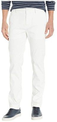 Perry Ellis Slim Fit Stretch Resist Spill Twill Pants (Bright White) Men's Casual Pants