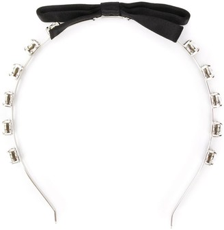 Miu Miu Embellished Bow Headband