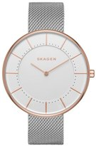 Skagen Gitte Round Mesh Strap Watch, 38mm