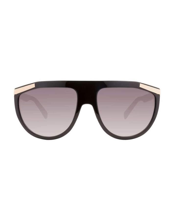 Balmain Flattop Plastic Aviator-Style Sunglasses