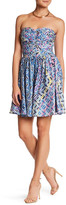 Charlie Jade Print Strapless Mini Dress