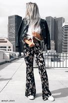 Forever 21 Ornate Floral Flared Pants