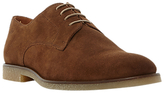 Dune Bronco Crepe Sole Suede Derby Shoes, Tan