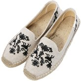 fereshte Women's Comfort Canvas Cap Toe Slip-On Fisherman Flat Espadrilles US Size 6