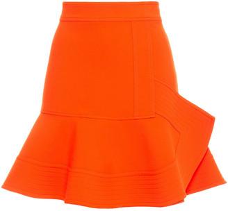 Victoria Victoria Beckham Fluted Crepe Mini Skirt