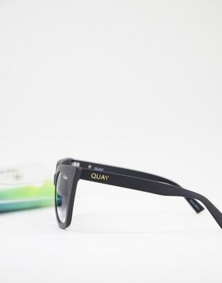 Quay Harper womens cat eye sunglasses in black