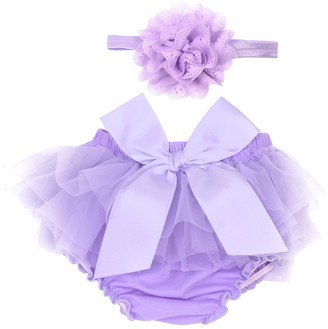 CHICTRY Newborn Baby Girl Princess Ruffled Bloomer /& Lace Flower Infant Headband Photography Prop Set