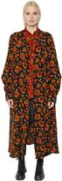 Y's Oversized Floral Jacquard Wool Coat