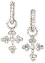 Jude Frances Tiny Provence Diamond Cross Earring Charms