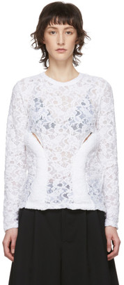 Comme des Garcons White Lace Padded Blouse