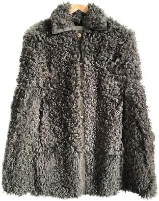 Valentino Khaki Shearling Coat for Women