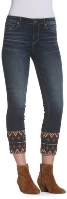 Driftwood Colette Cropped Embellished JEans
