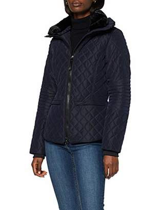 Lights of London Women's 296 Quilted Long Sleeve Jacket - Blue - UK 22