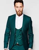 Noose & Monkey Suit Jacket With Stretch And Shawl Lapel In Super Skinny Fit