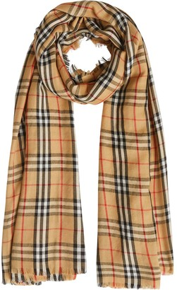 Burberry Vintage Check Lightweight Cashmere Scarf