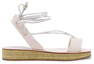 Álvaro González X Thierry Colson Wicker Flatform Sandals - Cream