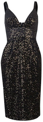 Jill Stuart Sleeveless V neck sequin dress