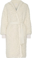 Helmut Lang Cotto reversible faux shearling and gabardine coat