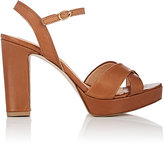 Barneys New York WOMEN'S LEATHER ANKLE-STRAP PLATFORM SANDALS