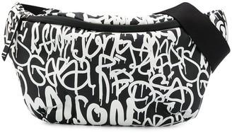 Maison Margiela Graffiti Print Belt Bag