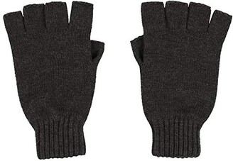 Graham Cashmere Made In Scotland Graham Cashmere - Womens Cashmere Fingerless Gloves - Made in Scotland - Gift Boxed (Charcoal)(Size: One Size)