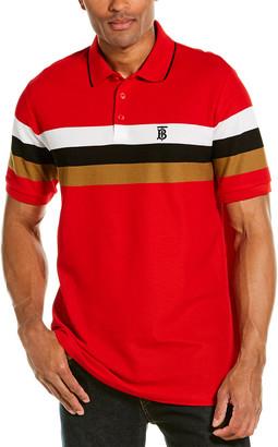 Burberry Monogram Motif Striped Polo Shirt