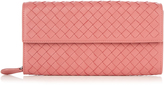 Bottega Veneta Intrecciato flap leather wallet