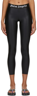 Palm Angels Black Logo Leggings