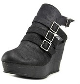 Sbicca Gomez Women Open Toe Synthetic Black Wedge Heel.
