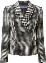Ungaro square print blazer