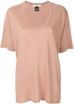 Hope scoop neck T-shirt - women - Linen/Flax - 36