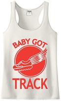 Urban Smalls Cream 'Baby Got Track' Racerback Tank - Toddler & Girls