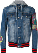 Philipp Plein Fallow denim jacket - men - Cotton/Polyester/Crystal - M