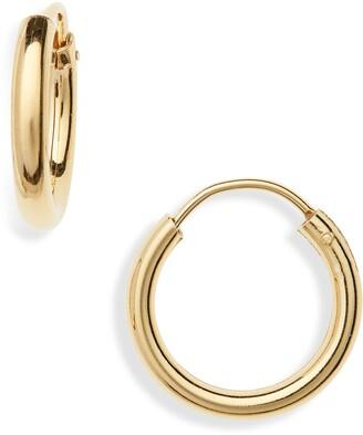Argentovivo Milano Sterling Hoop Earrings
