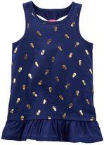 Osh Kosh Toddler Girl Foil Racerback Peplum Tank