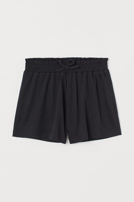 H&M Crinkled jersey shorts