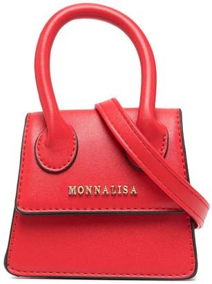 MonnaLisa Logo Top-Handle Tote